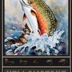trout fishing art makes excellent fly fishing gifts
