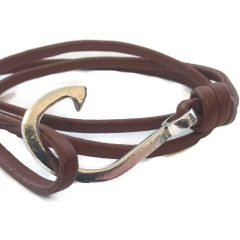 Leather Fish Hook Bracelets Make A Statement
