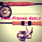 pink fishing reels